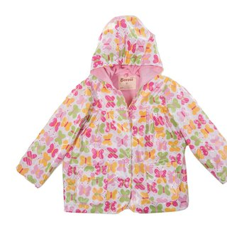 Windproof Waterproof breathable printing warm wind raincoat jacket <Pina butterfly>