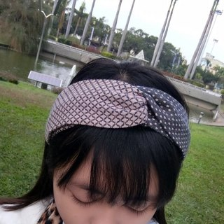 Color stitching elastic cross section headband Hairband*SK*