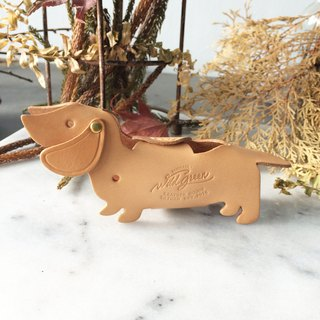 Love Dachshund Car Key Case - Cream Yellow Car Key Case