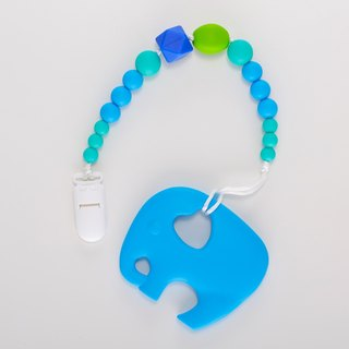 Handmade green ball elephant bite pacifier chain / Miyuki gift birthday gift Christmas gift