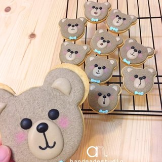 Teddy Bear Bear head wind pull sugar cookie (5 into) by anPastry