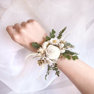 Wrist flower drying flower bride wedding customization