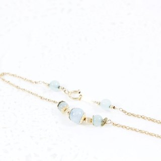 Snow goddess aquamarine bracelet