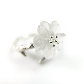 READ Dazzling Pure | Natural White Crystal 925 Sterling Silver Ring