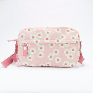 Ra Eco-friendly Super Light Waterproof Floral Cross Shoulder bag (Pink Daisy)