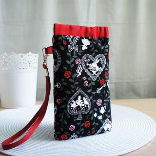 Lovely Japanese cloth [rose Alice mobile phone bag] pencil case, glasses bag, 5.5 inch mobile phone available
