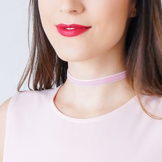PINK Choker Silver Choker Girlfriend Gift Gold Ribbon Choker Necklace Gold Necklace Silver Necklace / PONSA
