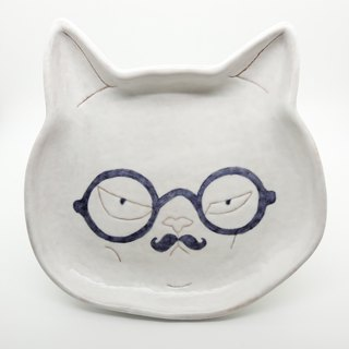 [Attitude so what] cat gentleman shallow dish