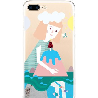 Girl hugging the world iPhone X 8 7 6s Plus 5s Samsung S7 S8 S9 Mobile Shell
