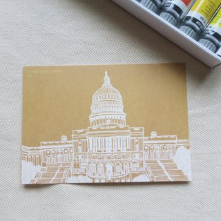 Travel Landscape USA - Capitol / Illustration Postcard