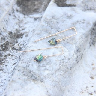 Simple titanium colored pyrite earrings / Titanium Pyrite earring