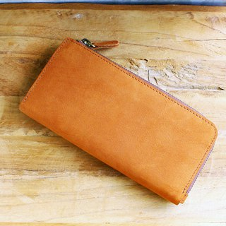 Leather Wallet - X1 - Tan (Nubuck Cow Leather)/ Mobile Phone Bag / Long Wallet