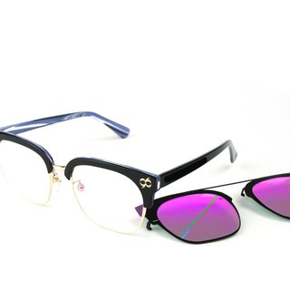 BEING flat + front hanging sunglasses - purple (mine purple psychedelic) / can try on at home, welcome to make an appointment