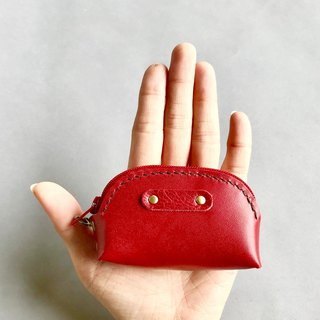 POPO│ bright red │ palm. lightweight small purse │ real leather