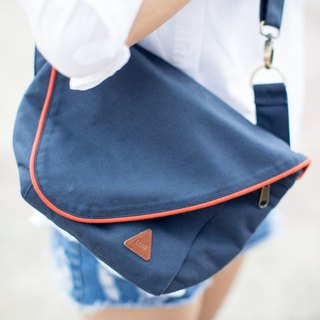 Navy Water Repellent Canvas Camera Bag