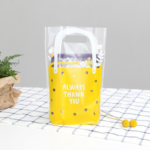 Gift Wrap SPP Bag M_01. Jelly Yellow / Thanks