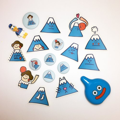"""Become Mount Fuji"" sticker group"