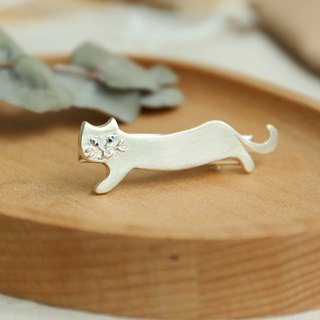 Japanese handmade ornaments - evil black cat hairpin
