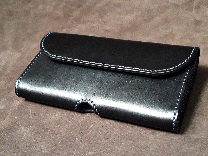 植鞣皮 手作手機包  腰包式手機袋  客製顏色 打印英文字
