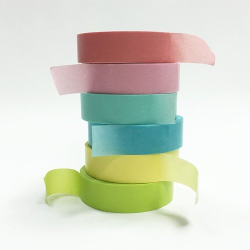 NICHIBAN Petit Joie Masking Tape【Plain 6-roll Set (PJMT-15S055-60)】