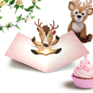 Deer Card | Deer Pop Up Card | Deer Birthday Card | Reindeer Birthday Card