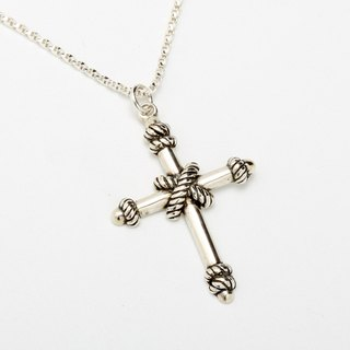 Cross knot Cross s925 sterling silver necklace Valentine's Day gift