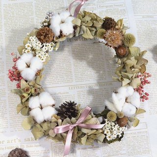 Drying wreath - hydrangea marshmallow
