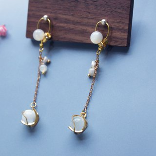 Shell - earring  clip-on earring