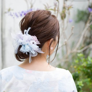 Hydrangea | Blooming Sakiami Colourful Hair Scrunchy / Hair Accessory / Hair Tie