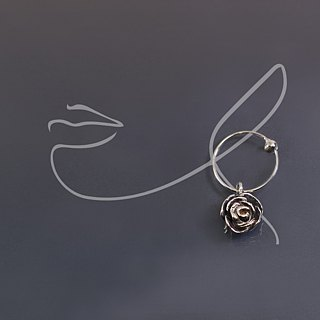 Small Rose 925 Silver Earrings (pair)