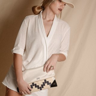 White customise moroccan cap and choker - Moroqshade