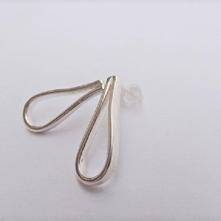 Large drops of sterling silver earrings