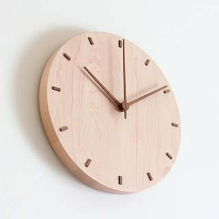 CLOCK_26 Taiwan Handmade Limited Mute Wall Clock Hard Maple Maple