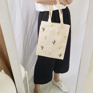 hand-drawn bag(Cactus)