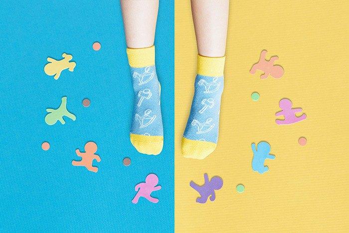 【快速出貨/免運】兒時童玩防滑4分之3童襪│質感禮盒包裝