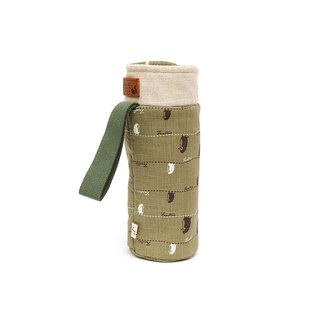 Insulation anti-collision bottle bag - Strolling in the first line - Matcha Green