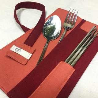 Tableware Pack //  Tomato Red //  Contains four cutlery