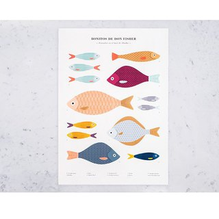Don Fisher A2 Fish School Poster