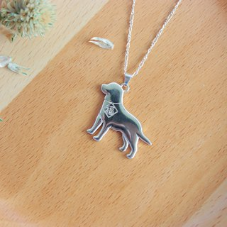 [Pet home] 925 sterling silver necklace Labrador blessing hair child Want Want