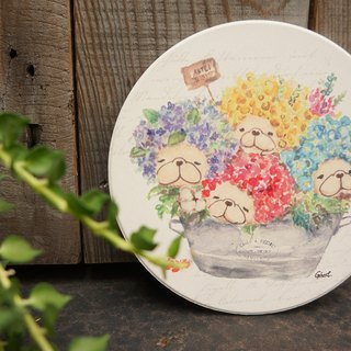 Law bucket water coaster - Hydrangea flower