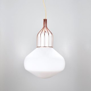 White copper chandelier -BNL00116
