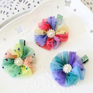Dreamy colorful flower-shaped bang folder