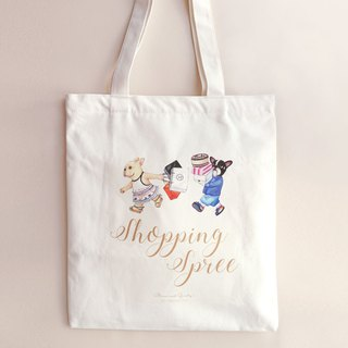 【Bruni and Gumby's Shopping Spree】French Bulldog Tote  | Cotton | Canvas Bag