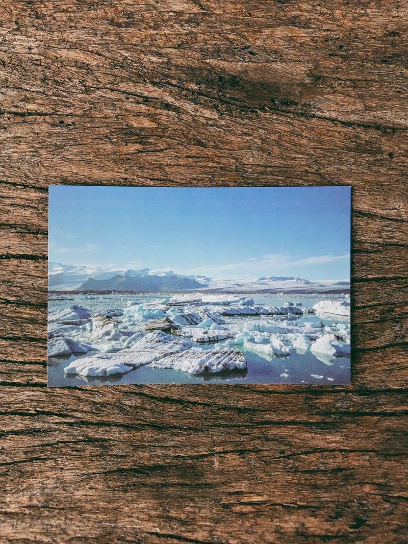 冰島的藍寶石冰河湖 攝影明信片