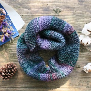 Mama の Hand-made scarf - blue green gradient - Gifts / Christmas