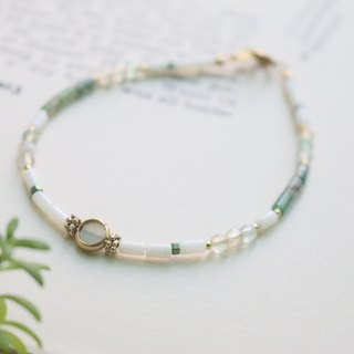 <☞ HAND IN HAND ☜> Emerald - to the line bracelet (0866)