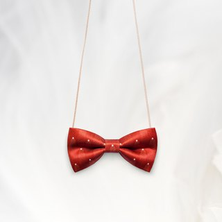 K0099 Red Necklace, Hairband, Pet Collar, Toddler Bow tie