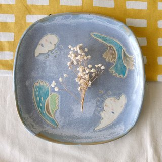 Seabed Coral Series _ Cottage Square Tray _Fillet _ Plate Cake Tray (one)