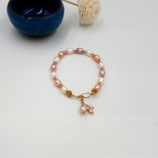 Girl Crystal World - [Cherish] - rice pearl hand made natural crystal bracelet