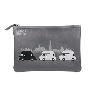 Flying Mouse Zip Pouch On the Road Pencil Bag Small Bag Clutch